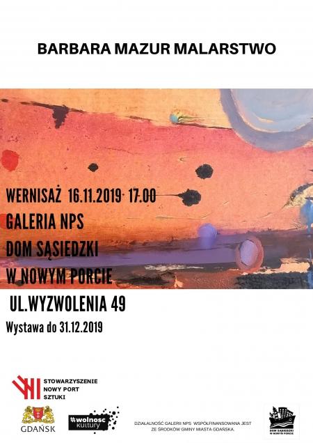 Wystawa malarstwa Barbary Mazur